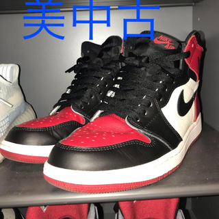 ナイキ(NIKE)のAIR JORDAN 1 RETRO HIGH OG BRED TOE(スニーカー)