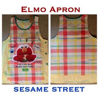 SESAME STREET - エルモプリントエプロン セサミストリート 新品未使用