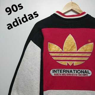 アディダス(adidas)の558 90年代 アディダス デカロゴ 刺繍 トレーナー 90年代デザイン(スウェット)