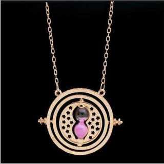 ハリーポッター レプリカ ペンダント&キーホルダー(ゴールドベース:ピンク)(ネックレス)