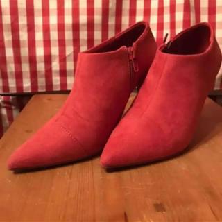 ランダ(RANDA)の【RANDA】ビジュー付きショートブーツ Sサイズ(ブーティ)