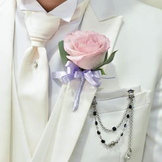 チェーンブローチ 結婚式メンズ 美品