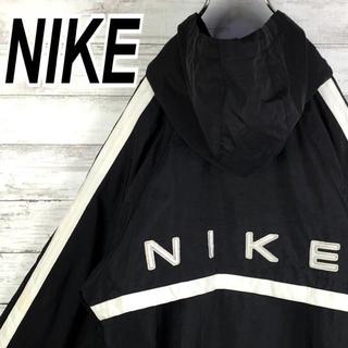 NIKE - ナイキ 90s ナイロン パーカー バックロゴ  ブルゾン 銀タグ ゆるだぼ