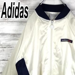 アディダス(adidas)のアディダス 90s ナイロン アームロゴ ブルゾン 銀タグ ビンテージ 送料無料(ナイロンジャケット)