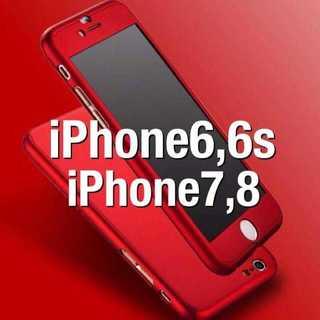 ⭐RED大人気⭐360度フルカバー iPhoneケース アイフォンケース⭐