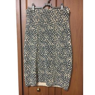 ネクスト(NEXT)のレオパード柄 ニットスカート(ひざ丈スカート)