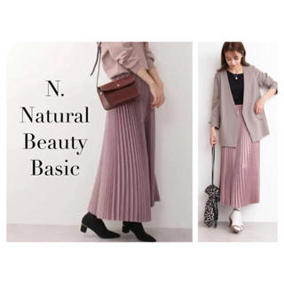 N.Natural beauty basic - N. Natural Beauty Basic♡サテンプリーツスカート