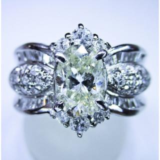 最安値※豪華絢爛・大粒1.00ct天然ダイヤモンドデザインリング(リング(指輪))