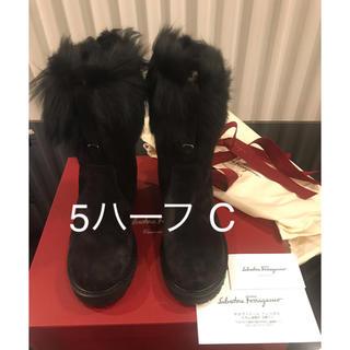 フェラガモ(Ferragamo)のフェラガモ 22.5 ショートブーツ (ブーツ)