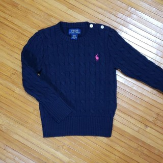 Ralph Lauren - 【未使用】ラルフローレン×セーター ニット ネイビー 3T 100cm