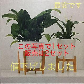IKEA - イケアIKEA 竹製のプラントスタンド 大小で1セット【2セット販売】