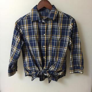 アンタイトル(UNTITLED)のdessin デッサン チェック シャツ 七分袖 サイズ1 Sサイズ 美品(シャツ/ブラウス(長袖/七分))