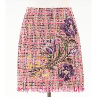 Lily Brown - Lily Brown🌸ツイード刺繍台形スカート💓