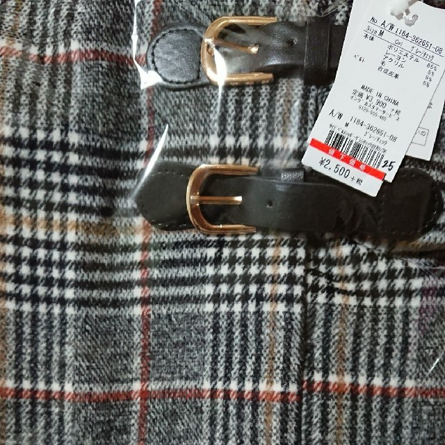 INGNI(イング)の【新品】INGNI サイドベルトシャギーグレンチェック台形/スカート362651 レディースのスカート(ミニスカート)の商品写真