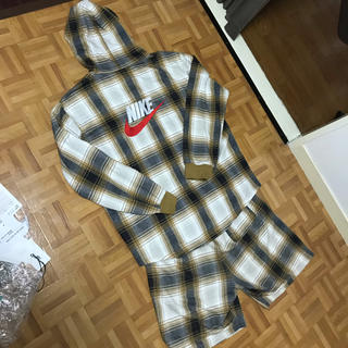Supreme - Supreme × Nike plaid hooded sweatshirt