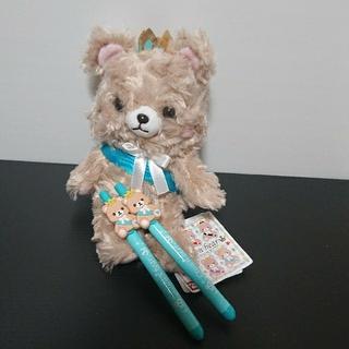 BANDAI - 新品 ナムコ限定  クラウンベア  ぬいぐるみ  ボールペン 青 セット