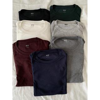 UNIQLO - ソフトタッチクルーネックTシャツ 長袖7点セット