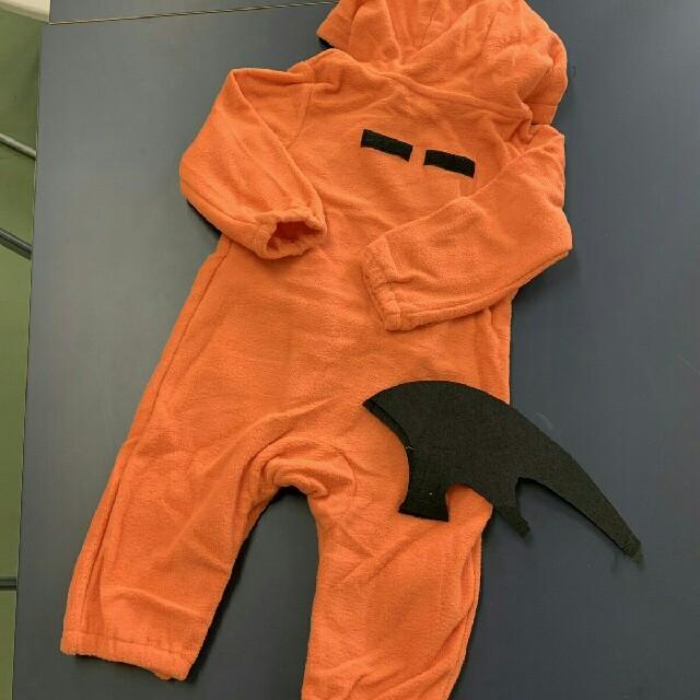 パンプキンロンパース ハロウィン コスプレ ベビー キッズ/ベビー/マタニティのベビー服(~85cm)(ロンパース)の商品写真