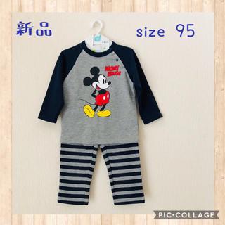 Disney - 新品☆ミッキー裏ぽかハラマキ付パジャマ 95