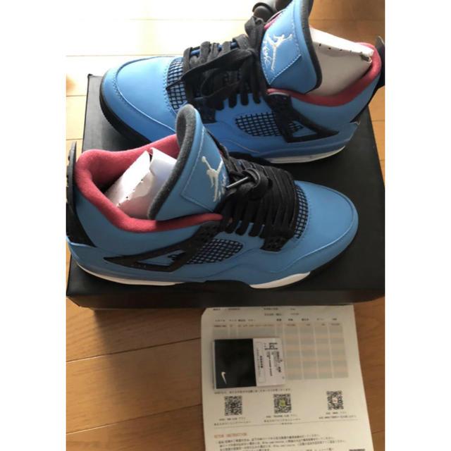 NIKE(ナイキ)のJordan 4 Retro 27cm Travis Scott ジョーダン メンズの靴/シューズ(スニーカー)の商品写真
