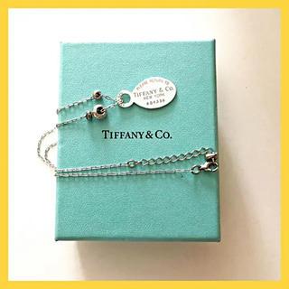 Tiffany & Co. - 【美品]ティファニーリターントゥロングネックレス   箱、巾着、取説、購入証明