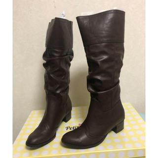 マルイ(マルイ)の✨新品未使用✨ロング ブーツ✨大きいサイズ25~26(ブーツ)