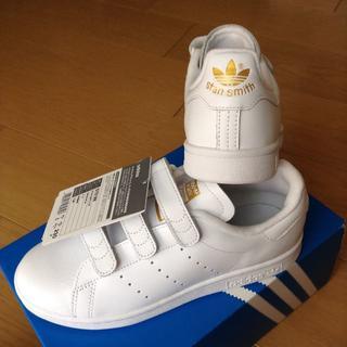 アディダス(adidas)の未使用♡23㎝♡ゴールド♡ベルクロ♡スタンスミス♡アディダス(スニーカー)