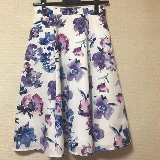 JUSGLITTY - ジャスグリッティー      水彩フラワー スカート