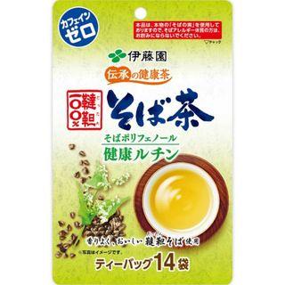 イトウエン(伊藤園)の伝承の健康茶 韃靼100%そば茶 ティーバッグ 6g*14袋(健康茶)