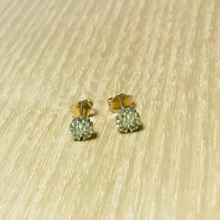 PonteVecchio - ポンテヴェキオ フラワー ピアス k18 ペリドット×ダイヤモンド