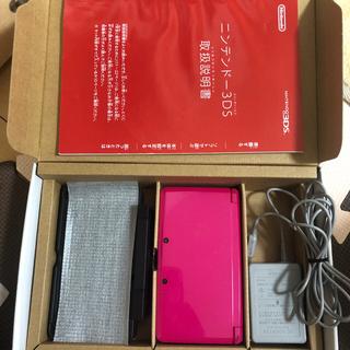 ニンテンドー3DS - ニンテンドー3DS グロスピンク 本体 ゲームソフト 任天堂