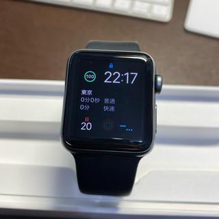 アップルウォッチ(Apple Watch)のApple Watch Series2 38mm スペースグレイ(腕時計(デジタル))