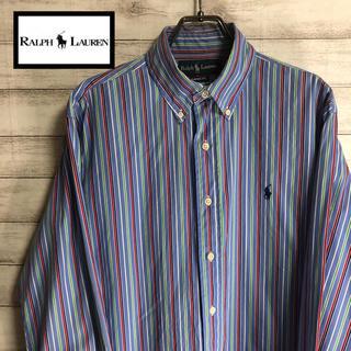 Ralph Lauren - RALPH LAUREN/ラルフローレン 長袖シャツ ストライプ 刺繍ロゴ