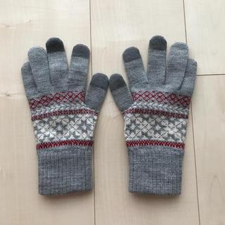 MUJI (無印良品) - 手袋 雪柄 無印良品 スマホ対応