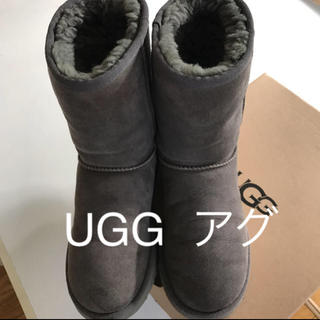 UGG - UGG アグ ムートンブーツ グレー US 7