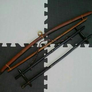 竹製ハンガー バンブーハンガー 壁掛け 2本セット