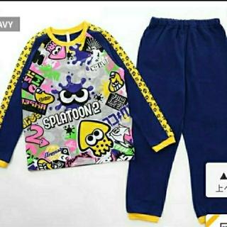 任天堂 - スプラトゥーン2 120cm 長袖 光るパジャマ ネイビー タグ付き 匿名配送