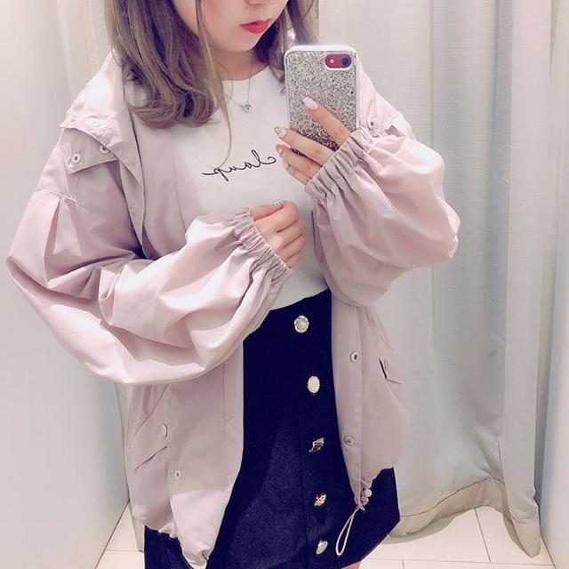 NICE CLAUP(ナイスクラップ)の新品♡定価7150円 ナイスクラップ ナイロンのパーカー 秋色ピンク 大特価❣️ レディースのトップス(パーカー)の商品写真