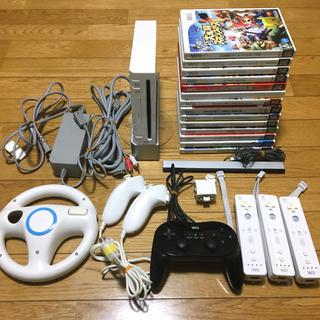Wii - 【動作確認済み】Wii 本体 周辺機器 ソフト16本 セット まとめ売り
