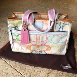 COACH - COACH コーチマルチカラーハンドバッグ