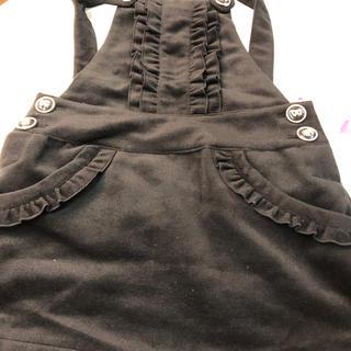 ピンクラテ(PINK-latte)の新品ピンクラテ黒サロペットスカート定価3990円サイズs(ミニスカート)