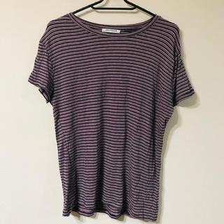 ザラ(ZARA)のzara トップス tシャツ マルチカラー ボーダー(Tシャツ(半袖/袖なし))