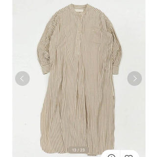 TODAYFUL - 新品 TODAYFUL Stripe Shirts Dress ベージュ 36