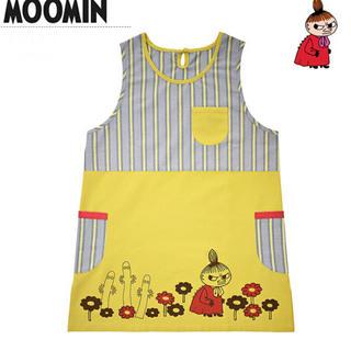 Little Me - Moominリトルミイ★保育士エプロン★フラワーマスタード★タグ付き