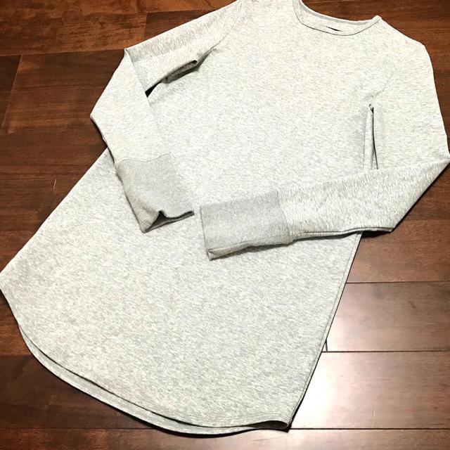 DEUXIEME CLASSE(ドゥーズィエムクラス)の新品未使用 ザ リラクス ロンティー 38 グレー レディースのトップス(Tシャツ(長袖/七分))の商品写真