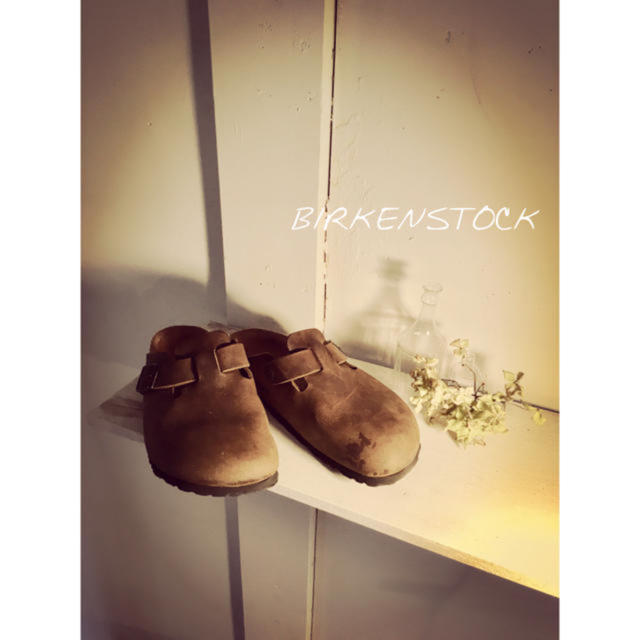BIRKENSTOCK(ビルケンシュトック)のビルケン 38 ボストン 24.5 イルビゾンテ ジャーナルスタンダード ニーム レディースの靴/シューズ(スリッポン/モカシン)の商品写真