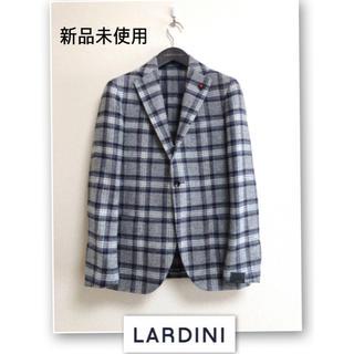 LARDINI(ラルディーニ)  好配色グレーチェックジャケット サイズ46