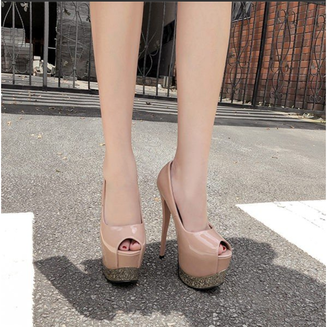 17cm パンプス レディース ピンヒール 超ハイヒール 前厚  レディースの靴/シューズ(ハイヒール/パンプス)の商品写真
