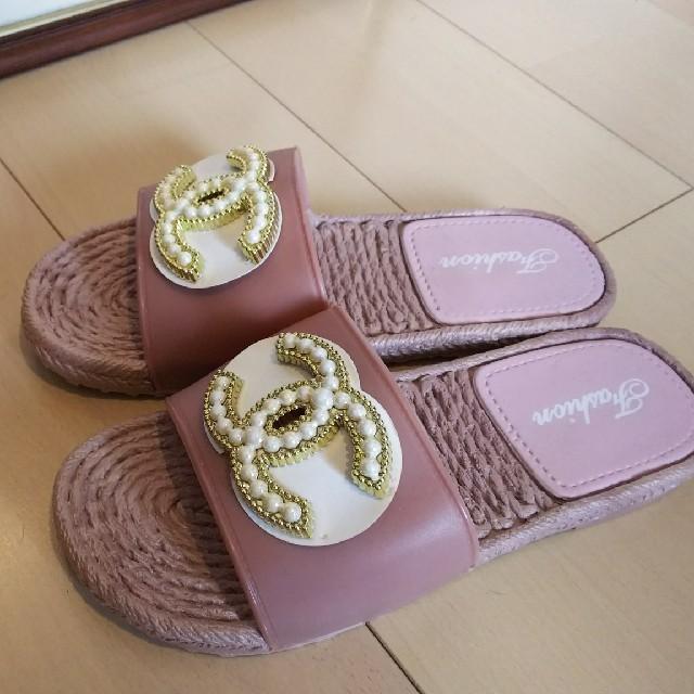 シャネル風 サンダル レディースの靴/シューズ(サンダル)の商品写真