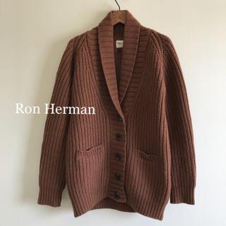ロンハーマン(Ron Herman)の極美品⭐️ロンハーマン  ショールカーディガン ブラウン(カーディガン)